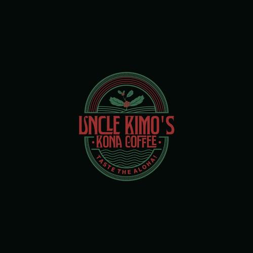 Vintage logo for family run Kona Coffee Plantation