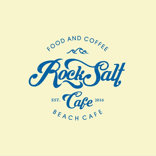 Vintage beach cafe design for Rocksalt