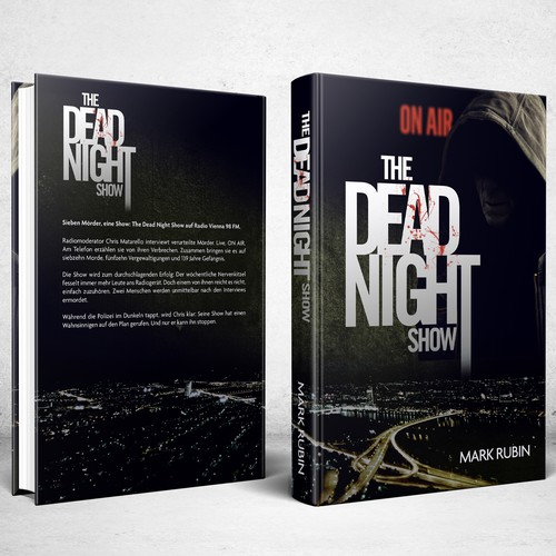 Book cover design for The Dead Night Show