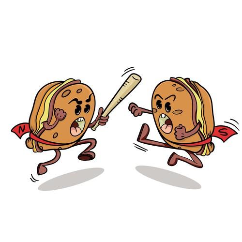 Sticker of  Taylor Ham vs Pork Roll