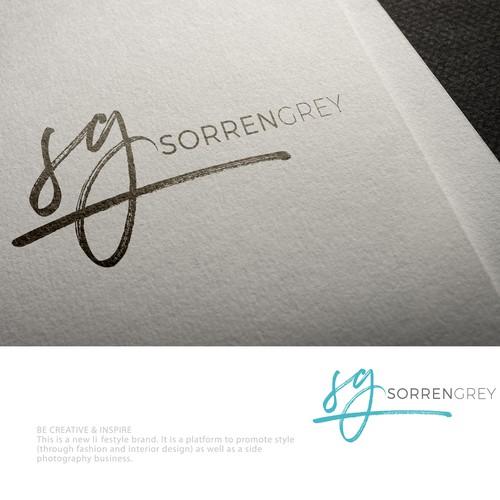 brush lettering logo for SorrenGrey