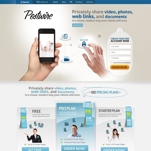 Help Postwire with a new website design