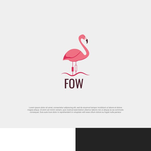 Financial flamingos logo