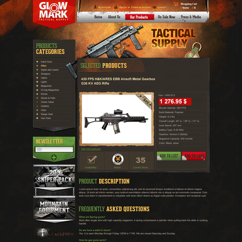 Help GlowMark Tactical Supply with a new website design
