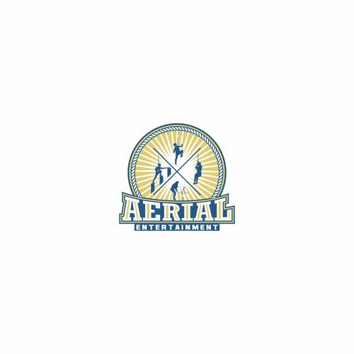 Retro logo concept for Aerial Entertainment