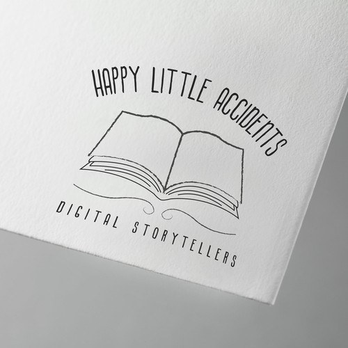 Simple logo for a storytelling company