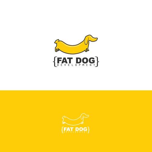 Sausage dog logo for a software development company