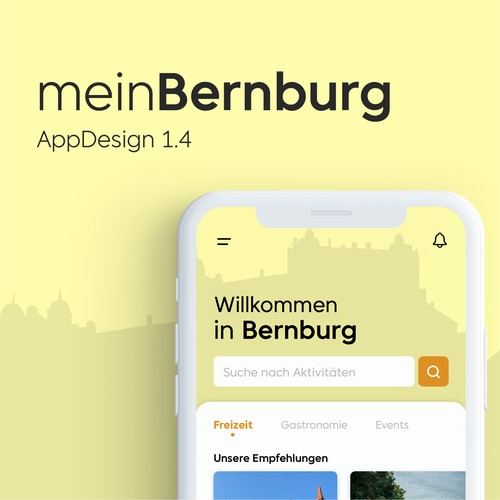 App for tourists in the german city Bernburg