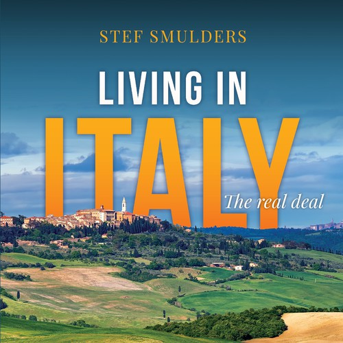 """A book cover design for """"Living in Italy: The real deal"""""""