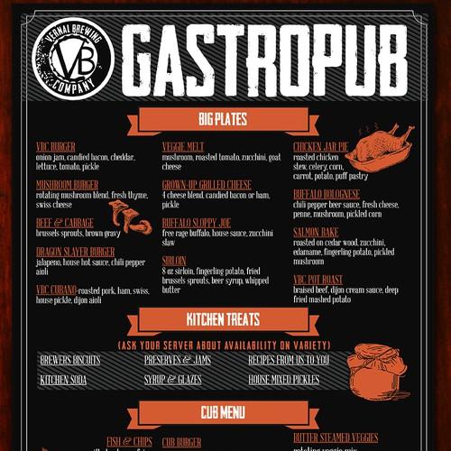 Gastropub Menu
