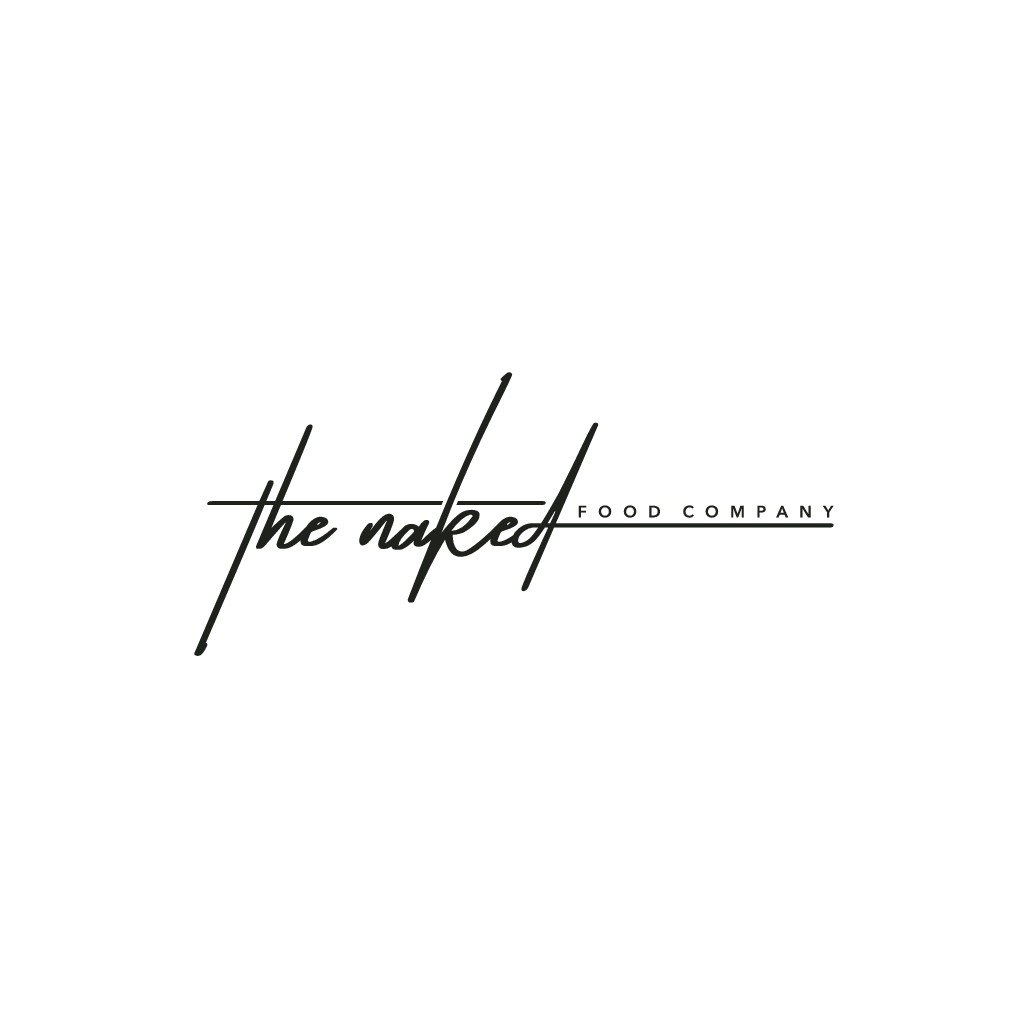Design a high end, luxury logo for a powerful female caterer called The Naked Food Company