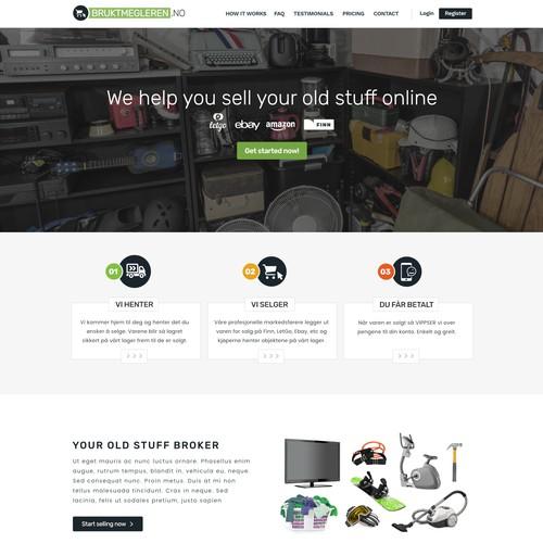 Web Design for Used stuff broker in Norway