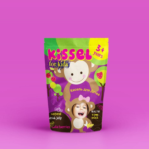 Design a cutest package design for Baby Kissel