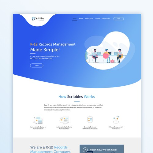 Website design for Software Management