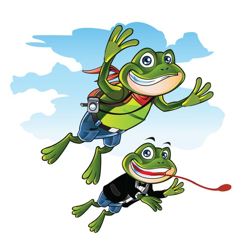 Illustrate a Frankie the Frog for children!