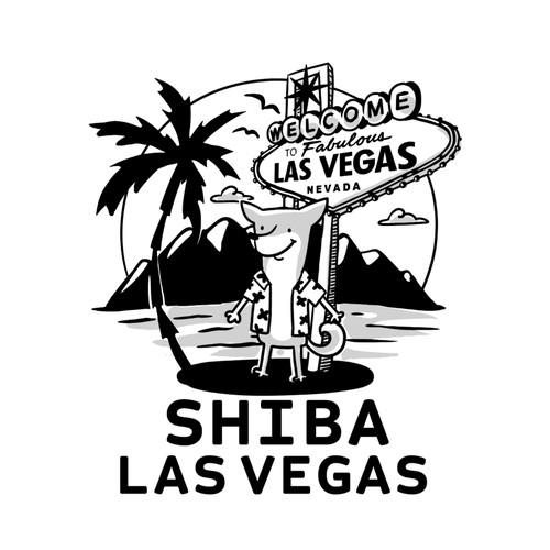 sketch with a shiba inu
