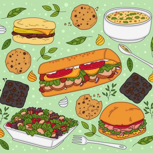 illustration concept for food calendar