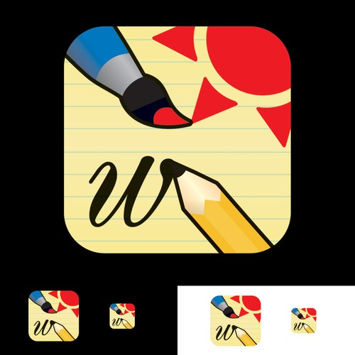 Drawing/Writing iPhone game needs an icon