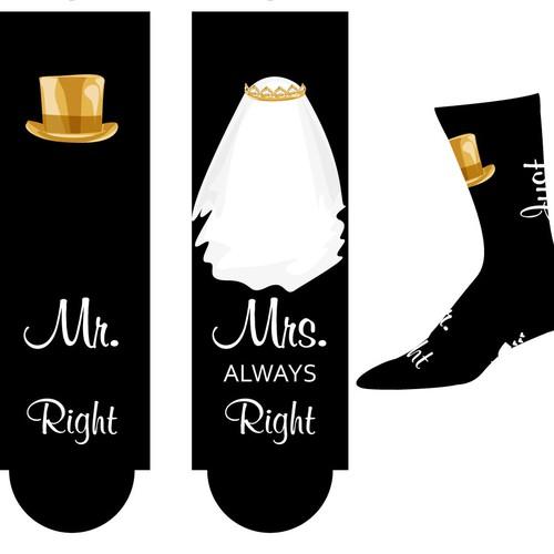 Wedding Design for socks