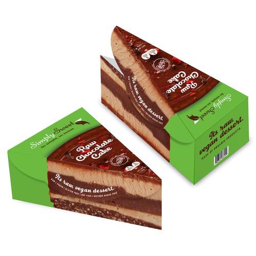 Embalagem de Cake Vegano.