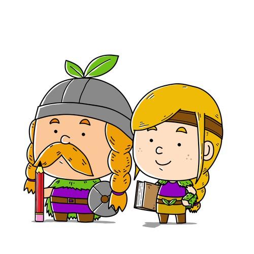 Cute Vikings Character