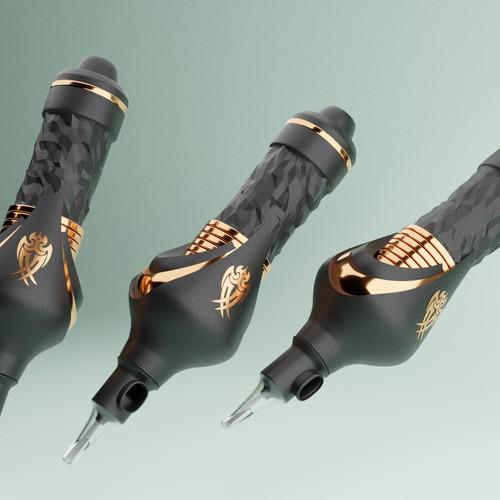 Tattoo pen design (concept and 3D cad file)