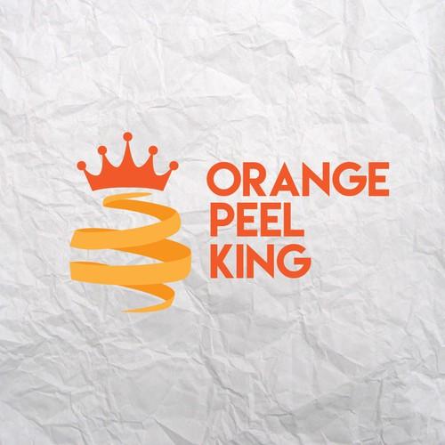Logo concept for Orange Peel King Company