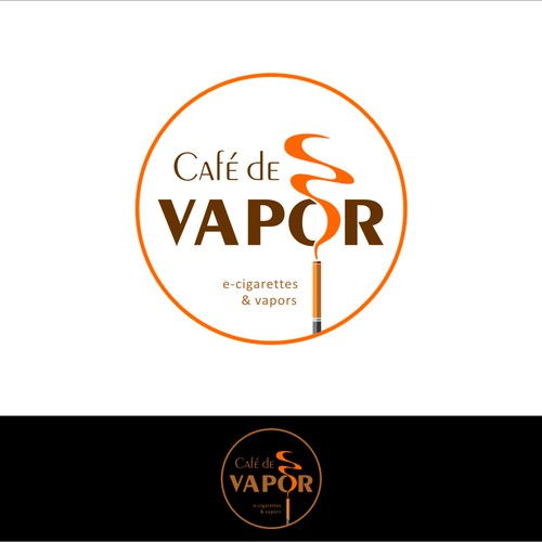 Create the next logo for Cafe´ De Vapor
