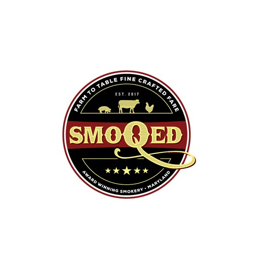 Logo for bbq and food truck restaurant
