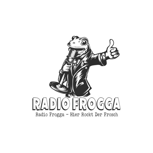 frog mascot logo