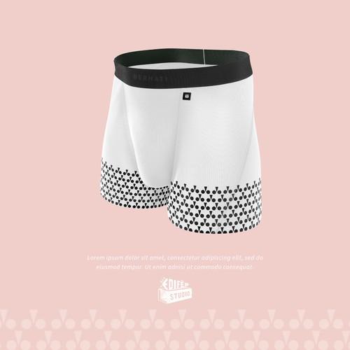 Mockup design for a boxer brief