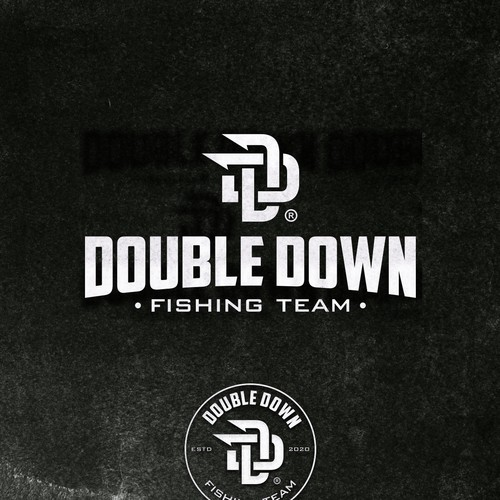 Double Down Fishing Logo Concept.