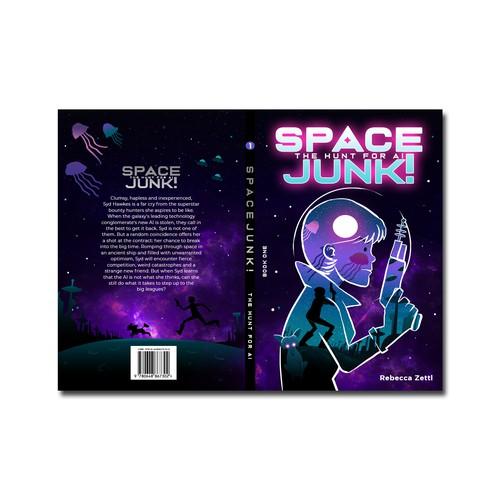 Book cover, SpaceJunk! vol.1 by Rebecca Zettl