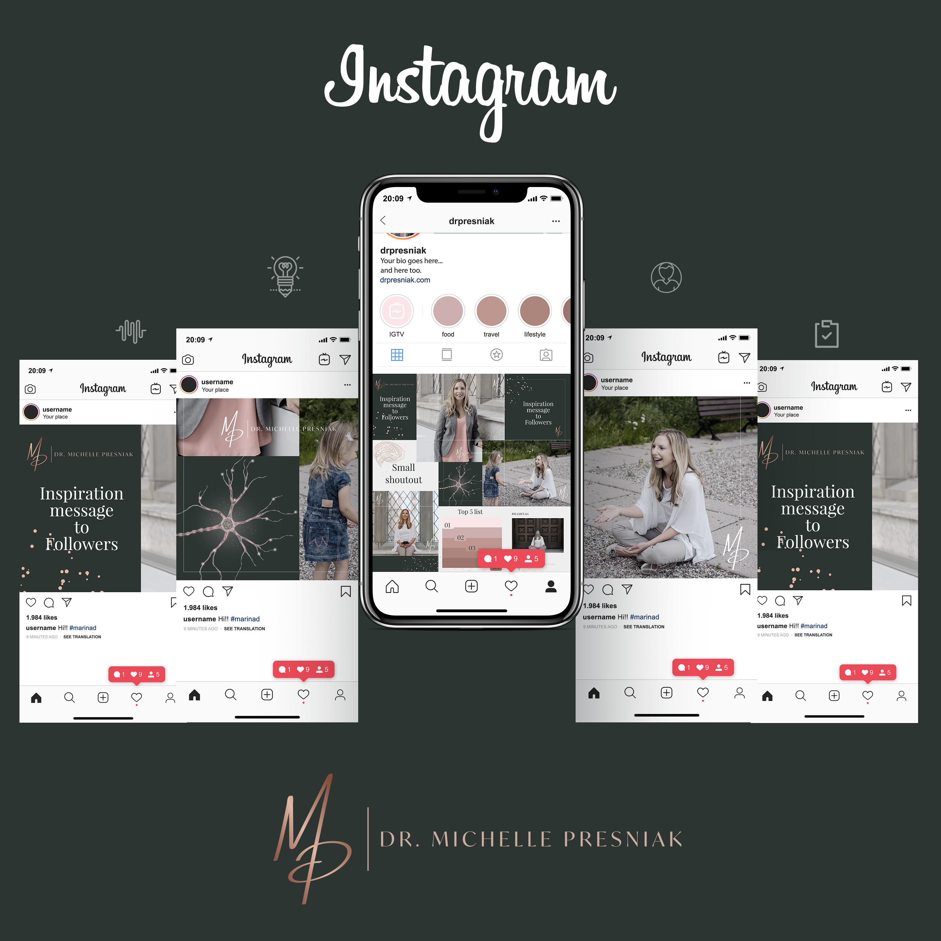 Instagram Themes/Backgrounds for Business Consultant