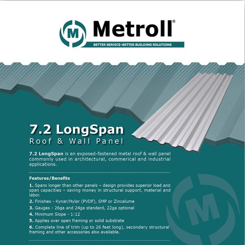 Help Metroll create an informative yet attractive handout for its metal panel product