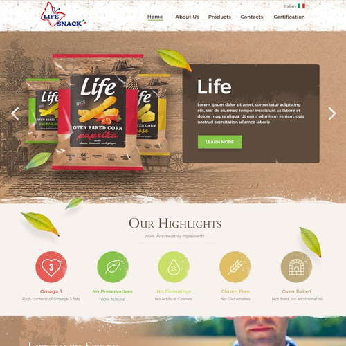 Website Design for Life Snack