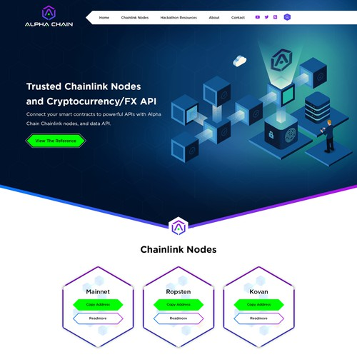 Block Chain Web Page Design