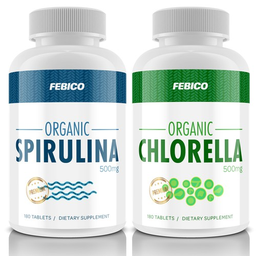 Spirulina & Chlorella Supplement Label