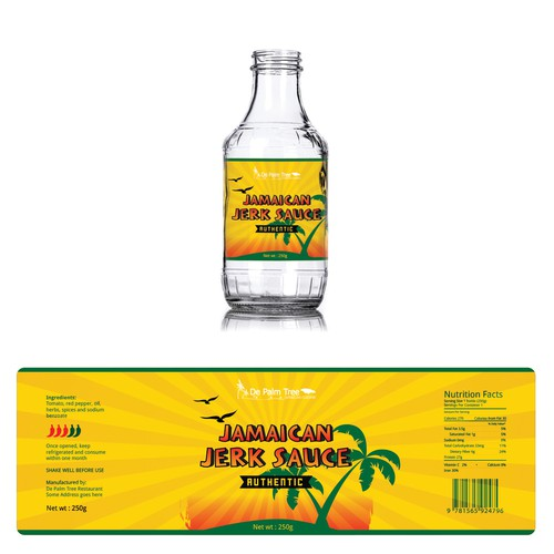 Label design for Jamaican Jerk Sauce