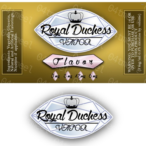 Create an amazing brand AND product label for Royal Duchess Vapor