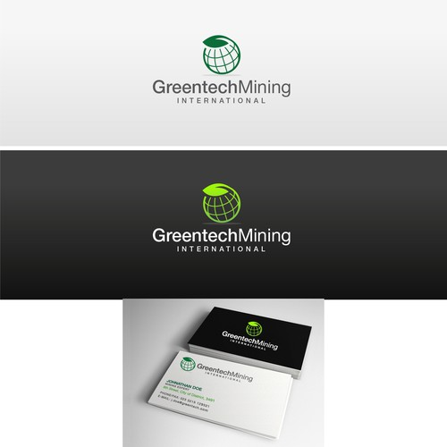 Green industrial logo