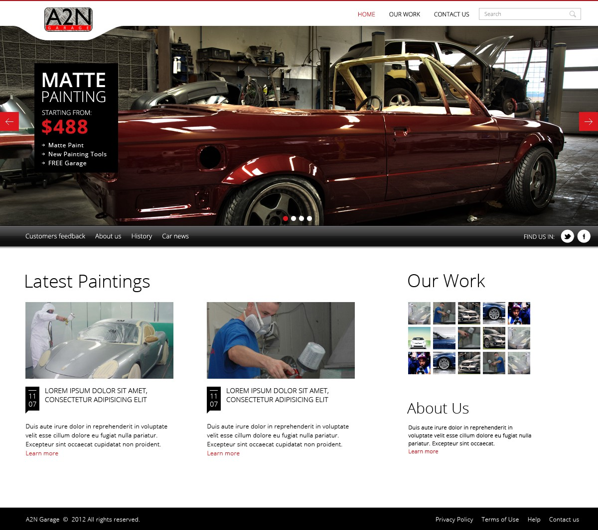 New website design wanted for A2N Garage