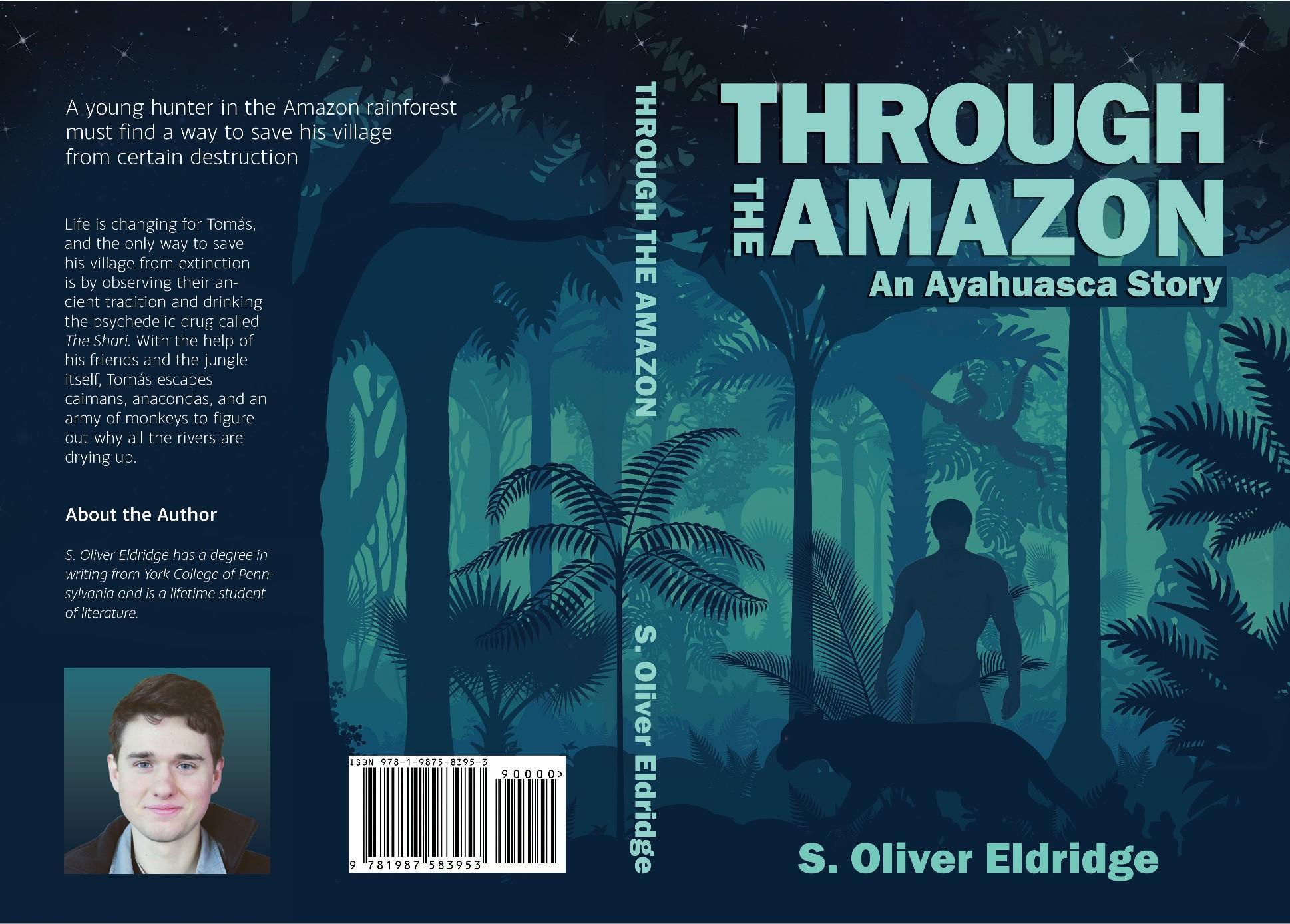 """Book Cover Design """"Through the Amazon"""""""