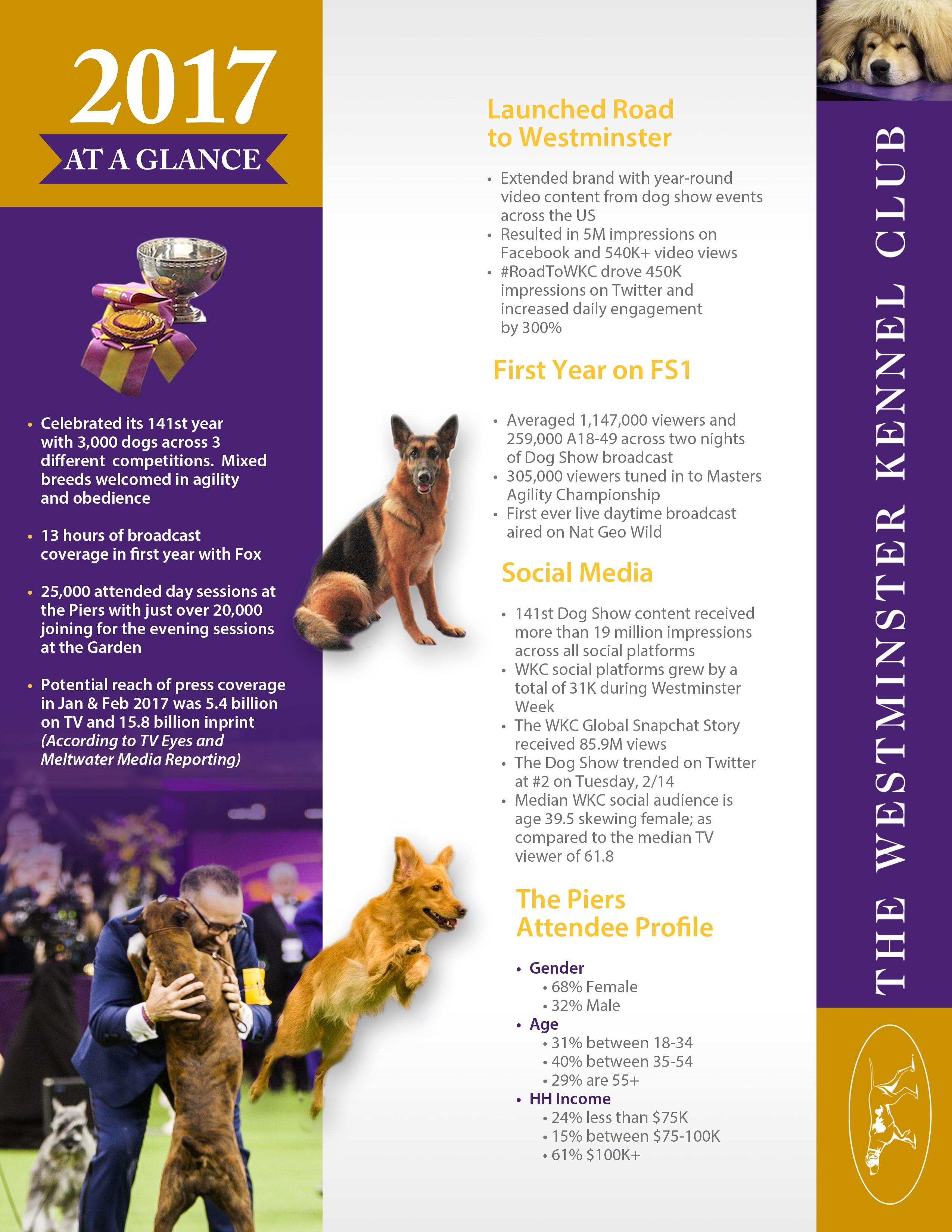 Design a Highlight Sheet for The Westminster Dog Show