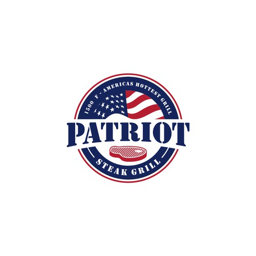logo concept for PATRIOT STEAK GRILL