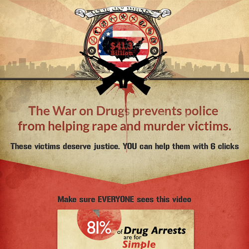 Help end the War on Drugs - landing page