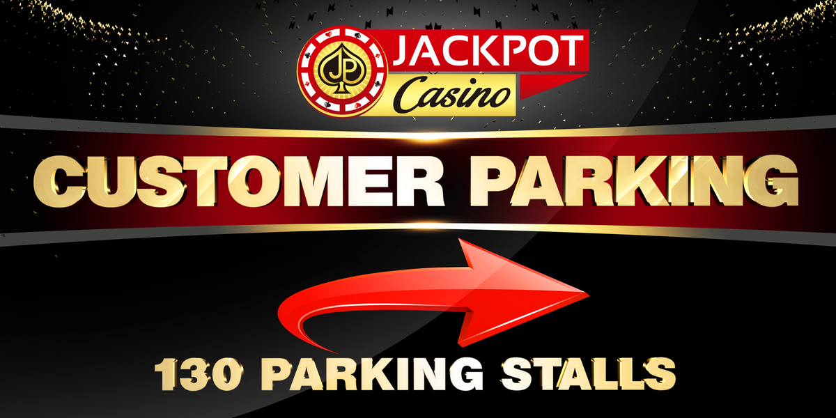 Jackpot Parking Sign