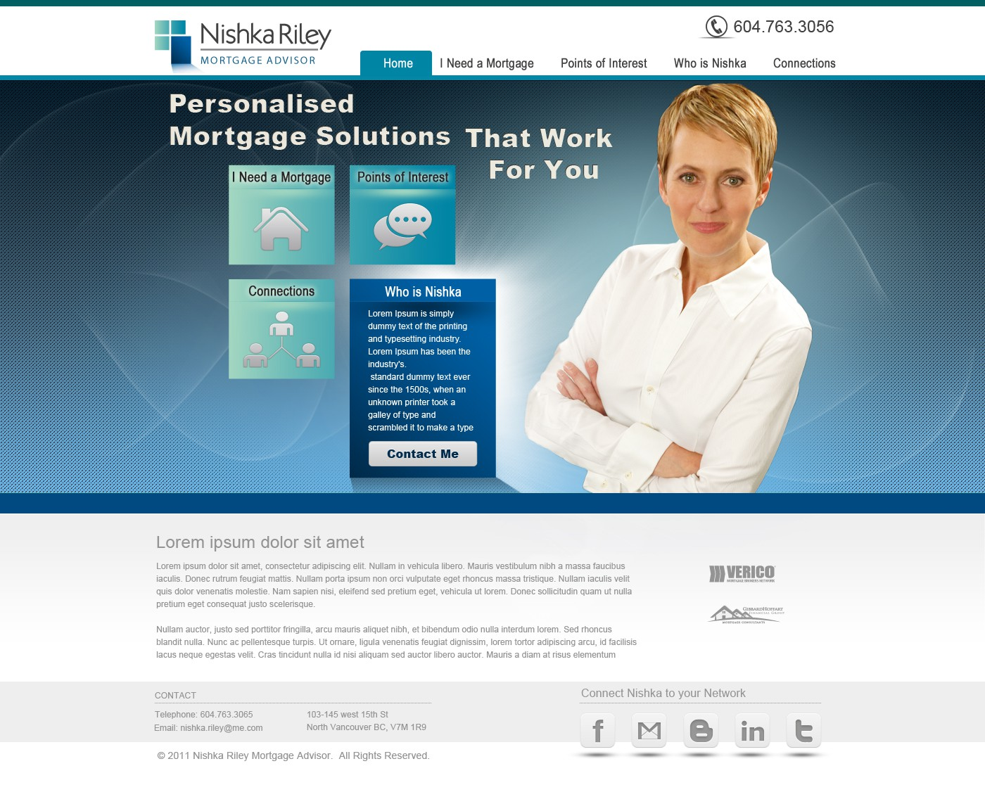 Mortgage Advisor needs a Web Site