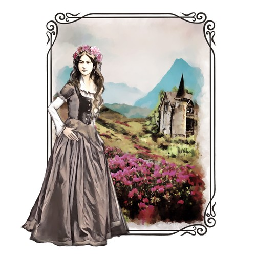 Victorian woman's portrait