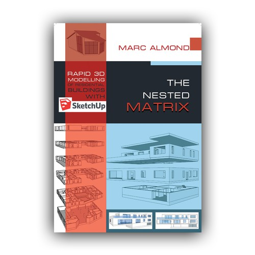 Striking book cover design for architectural 3D modelling
